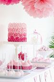 stock photo of ombres  - Dessert table - JPG