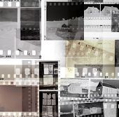picture of yesteryear  - Grungy old film negatives overlapping - JPG