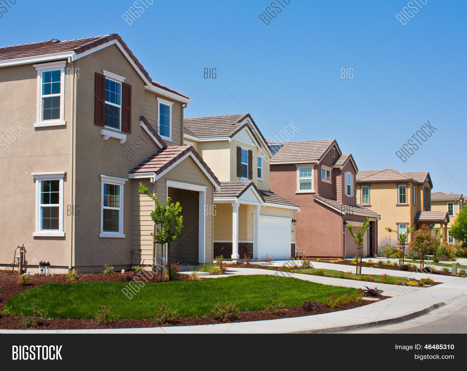 New Tract Homes Stock Photo Stock Images Bigstock