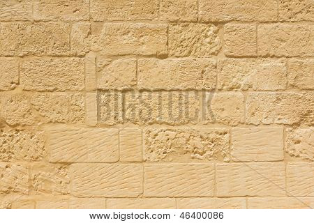 Weathered Sandstone Brick Wall