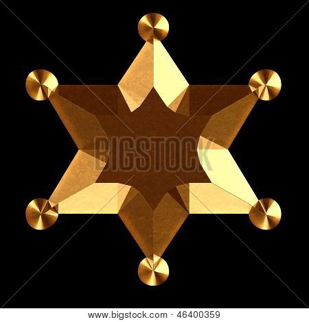 Sheriff Star Logo Gold