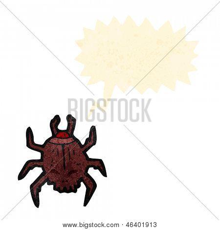 cartoon gross skull bug