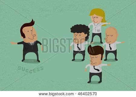 Business man opposition vector format
