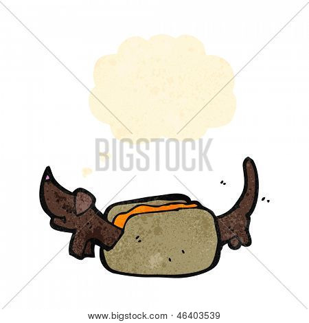 cartoon hot dog