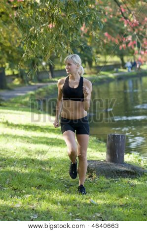 Blond Girl Running