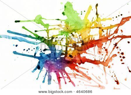 Rainbow Hued Splatters