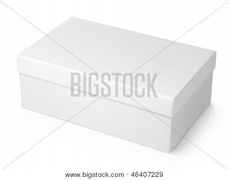 White Shoe Box Isolated On White
