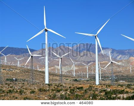 Electric Wind Turbine Field