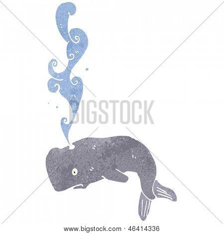 baleia dos desenhos animados, esguichando água