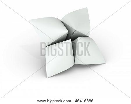 Blank Paper Fortune Teller