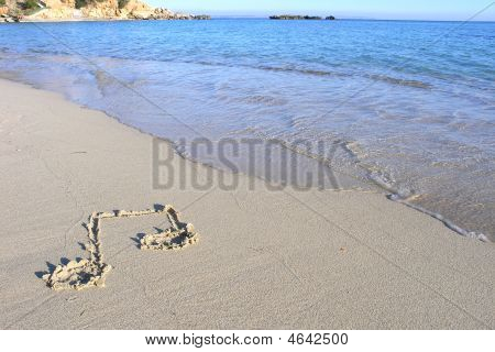 Musical Note On Beach