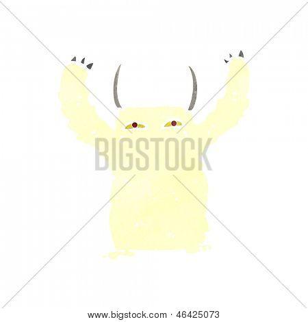 yeti monster cartoon character