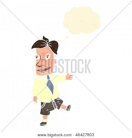 retro cartoon salesman