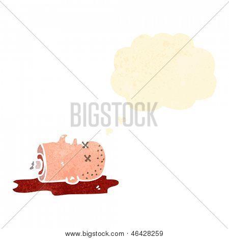 gross halloween severed head cartoon
