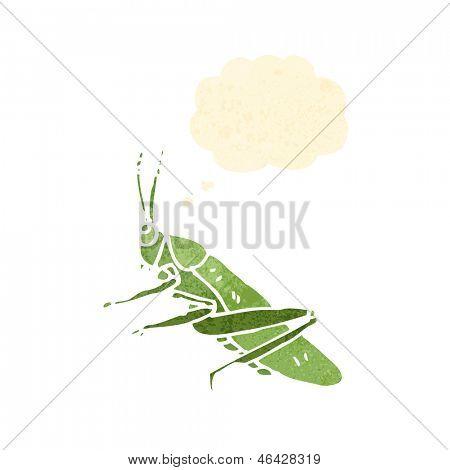 retro cartoon grasshopper