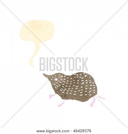 shrew retro illustration
