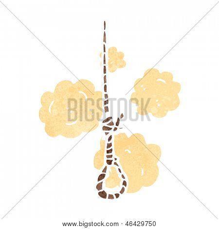retro cartoon hangman's noose
