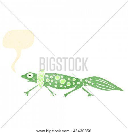 retro cartoon newt