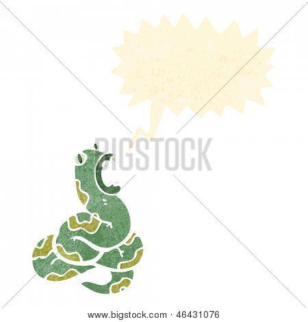 dibujos animados retro de la serpiente que silba