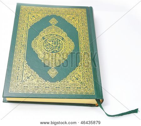 Holy Quran from the front