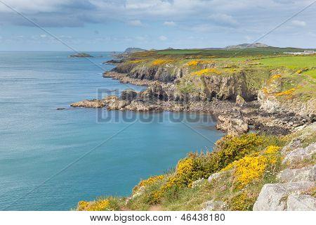Wales coastal view St Nons Pembrokeshire coastline