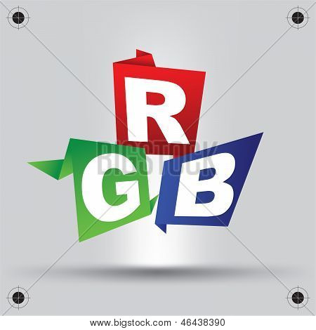 RGB letters