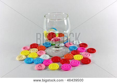glass with clasper