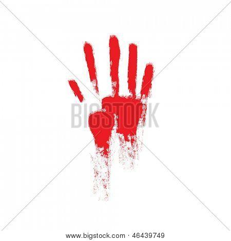 Vetor de mão sangrenta