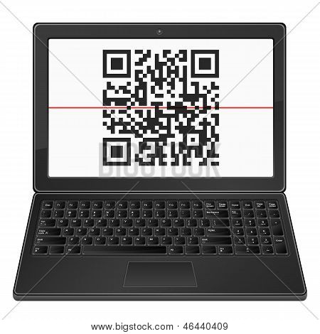 Laptop With Qr Bar code
