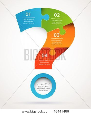 Question mark abstract background design and infographics