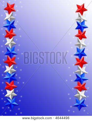 patriotische Sternen bewertet Grenze