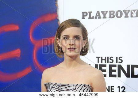 LOS ANGELES - JUN 3: Emma Watson at the premiere of Columbia Pictures' 'This Is The End' at the Regency Village Theater on June 3, 2013 in Westwood, Los Angeles, California