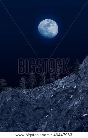 Moon Over Mountainside