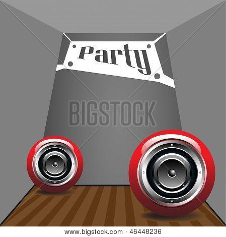 Party mit Lautsprecher