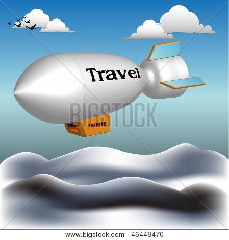 Traveling blimp