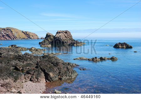 Rocks, Cliffs And Sea At St. Abbs