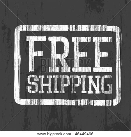 Free shipping stamp, vector