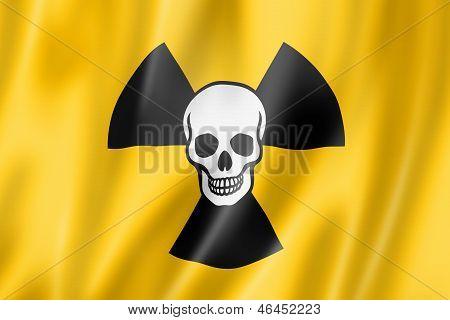Radioactive Nuclear Symbol Death Flag