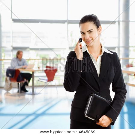 Businesswoman Talkin On Mobile Phone