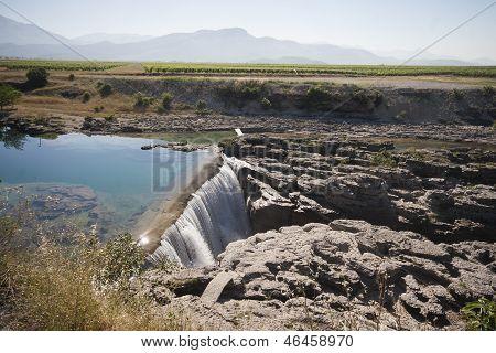 Cijevna river waterfall