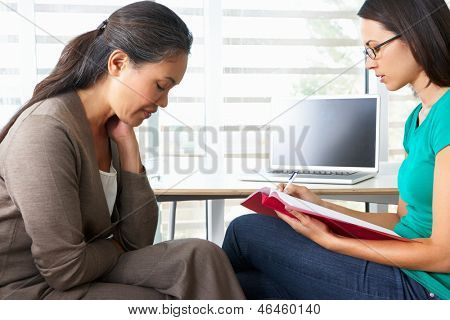 Woman Having Counselling Session