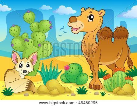 Imagem de tema do deserto 4 - ilustração do vetor de eps10.