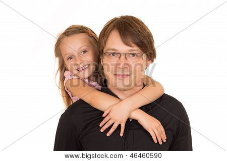 Father Giving Piggyback Ride