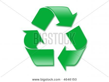Simple Green Recycle Symbol