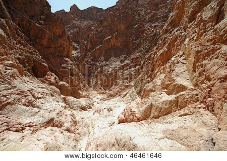 Scenic desert canyon near Eilat, Israel