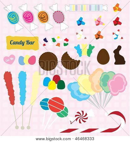 Vector Set: Candy Pieces