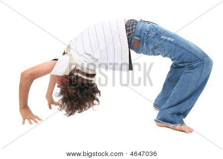 Teen Boy Doing Backbend