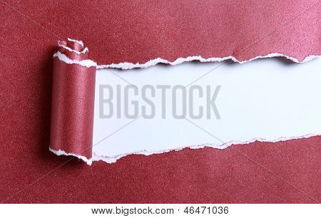 Ripped Red Paper