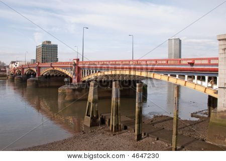 Vauxhall Bridge At Low Tide