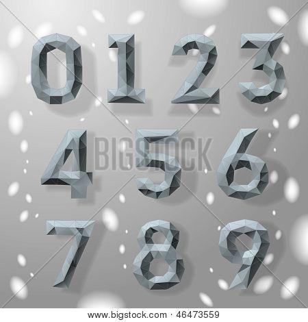 Trendy grey fractal geometric numbers.